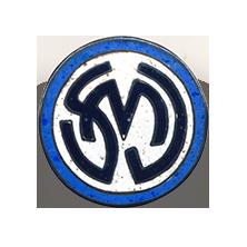 Badge of the youth organisation SMV (Blue-Black-White).