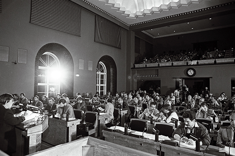 Session of the Supreme Council of the Republic of Estonia on 20 August 1991.
