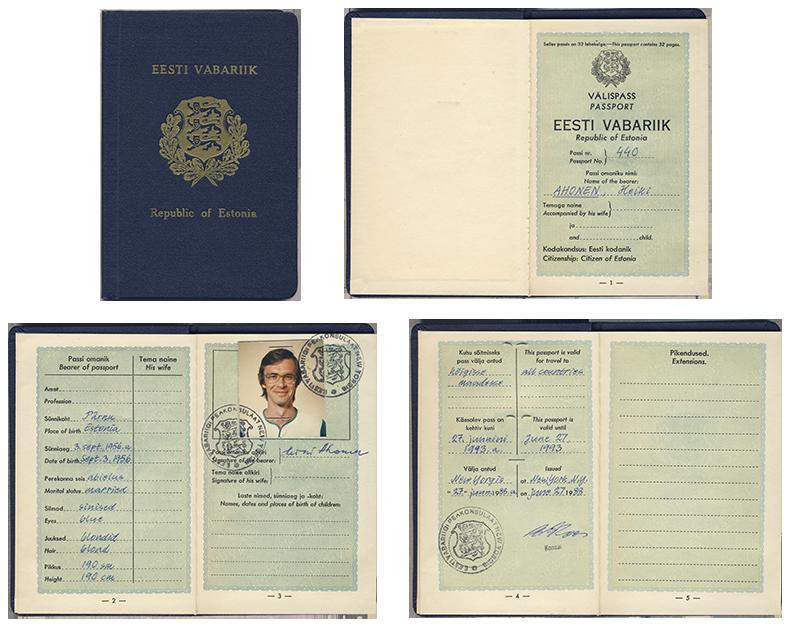 """Endise poliitvangi Heiki Ahoneni """"Jaaksoni pass"""". 1988."""