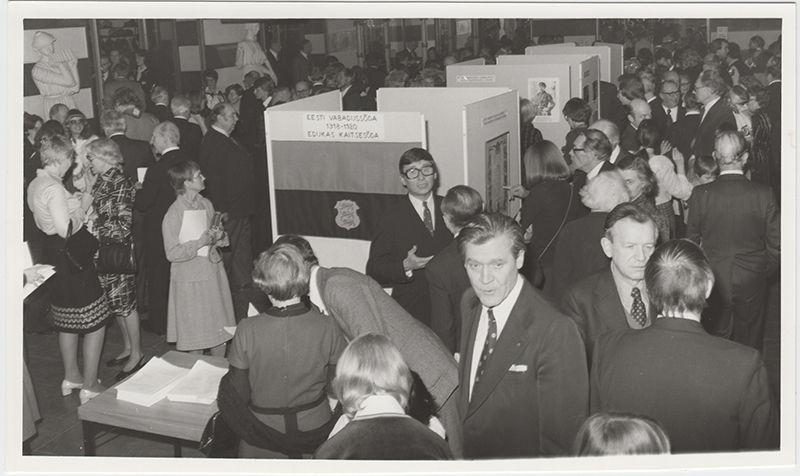 Opening of the Estonian War of Independence exhibition at the Stockholm Concert Hall, 24 February 1980.
