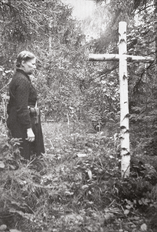 The grave of Eduard Holm, a Forest Brother who died in the Tapiku forest bunker battle in Jõgeva County on 21 October 1948.