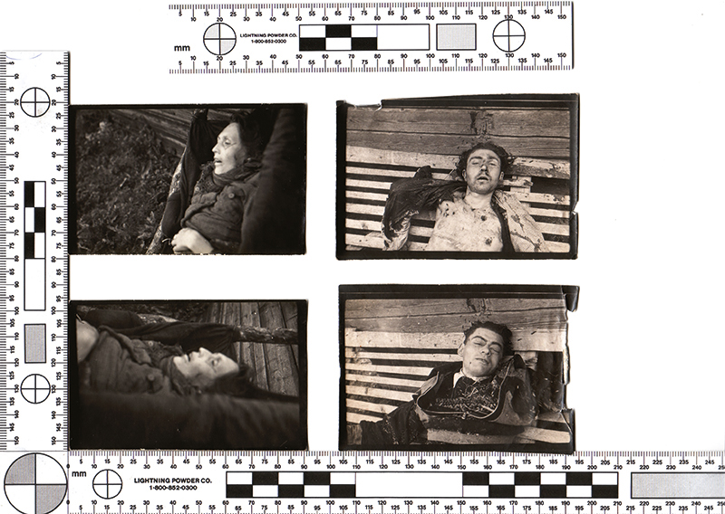 Photographs of the killed Forest Brothers