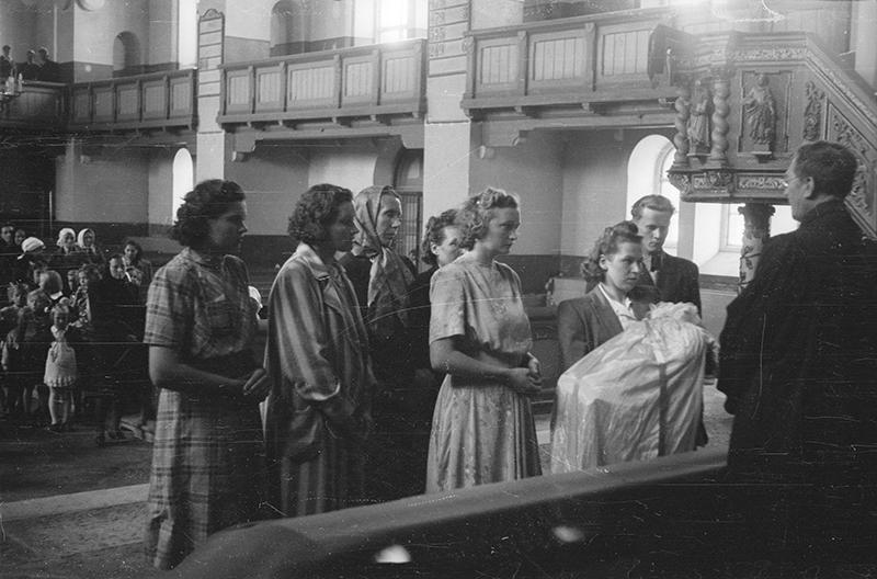 Christening in Rapla Church, 1947.