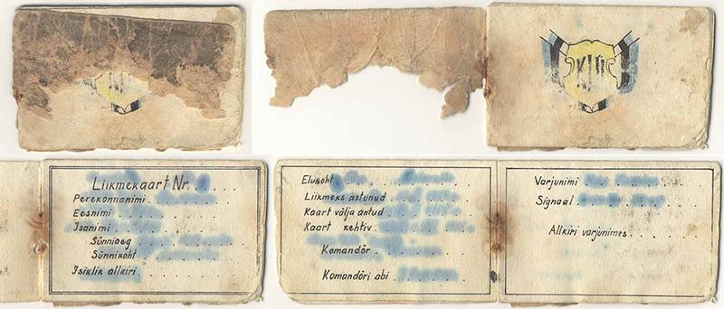 The membership card of Valdur Raudvassar (b. 1939) in the youth organisation Kolme Lõvi Ühing (Three Lions Association), 1950s.