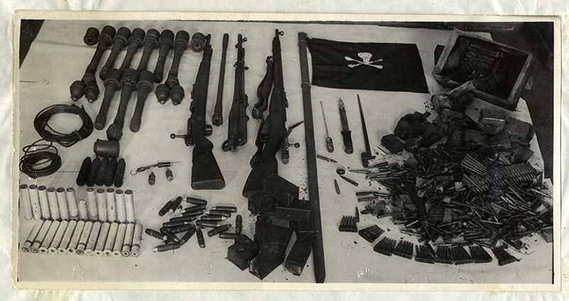 Weapons and ammunition confiscated from Juhan Kuusk's apartment.