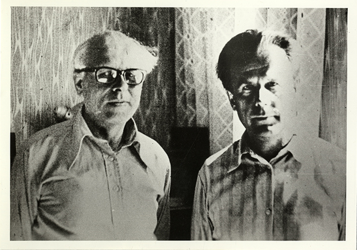 Dissidents Mart Niklus and Andrei Sakharov, 1970s or 1980s.